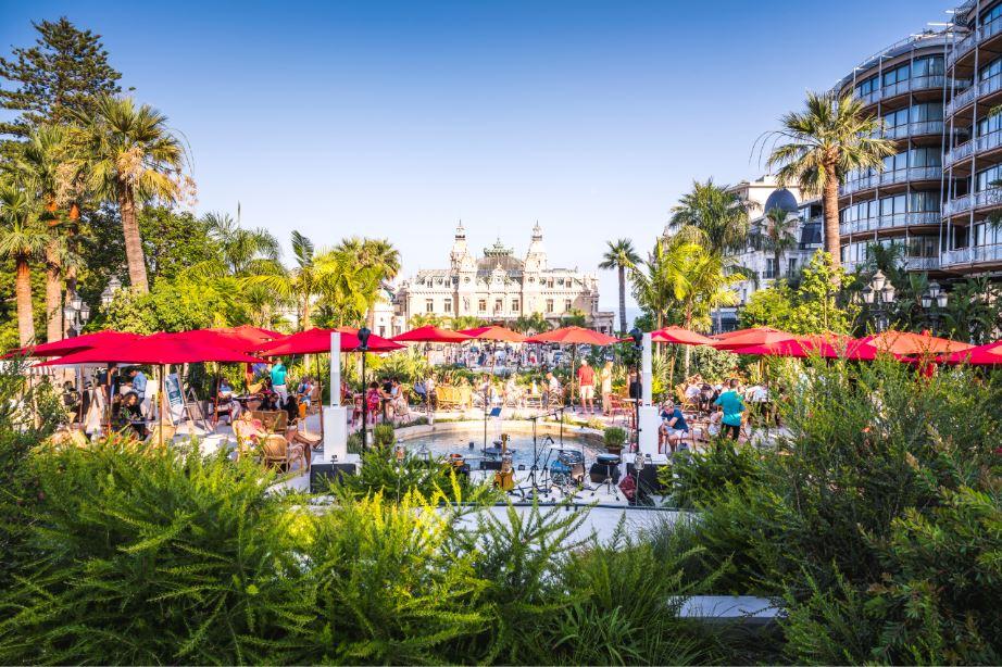 garden evening - swing monte-carlo - place du casino