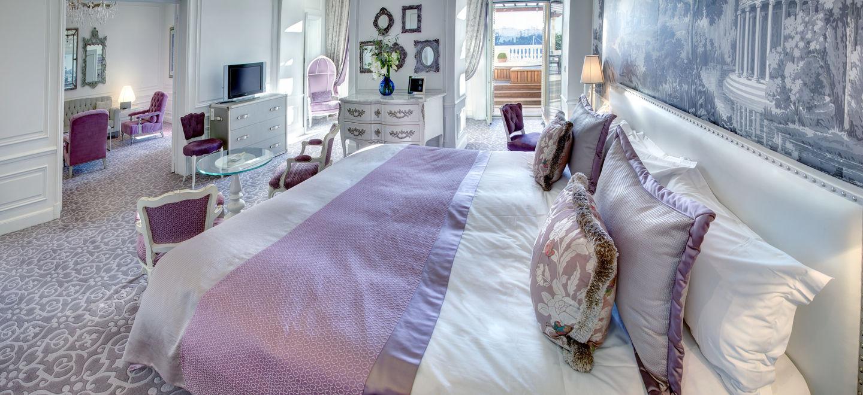 Hôtel Hermitage - Diamond Suite - vue mer avec  - Chambre