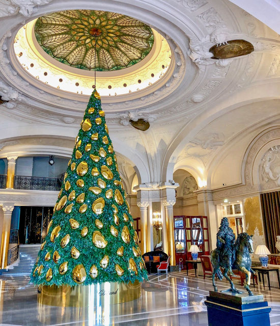 Hotel de Paris Monte-Carlo Sapin de Noel Chopard 2018 Decorations