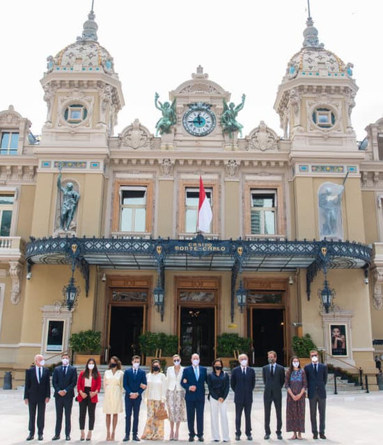 Inauguration Place du casino Monaco