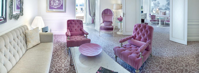Hôtel Hermitage - Diamond Suite - vue mer avec jacuzzi - Salon