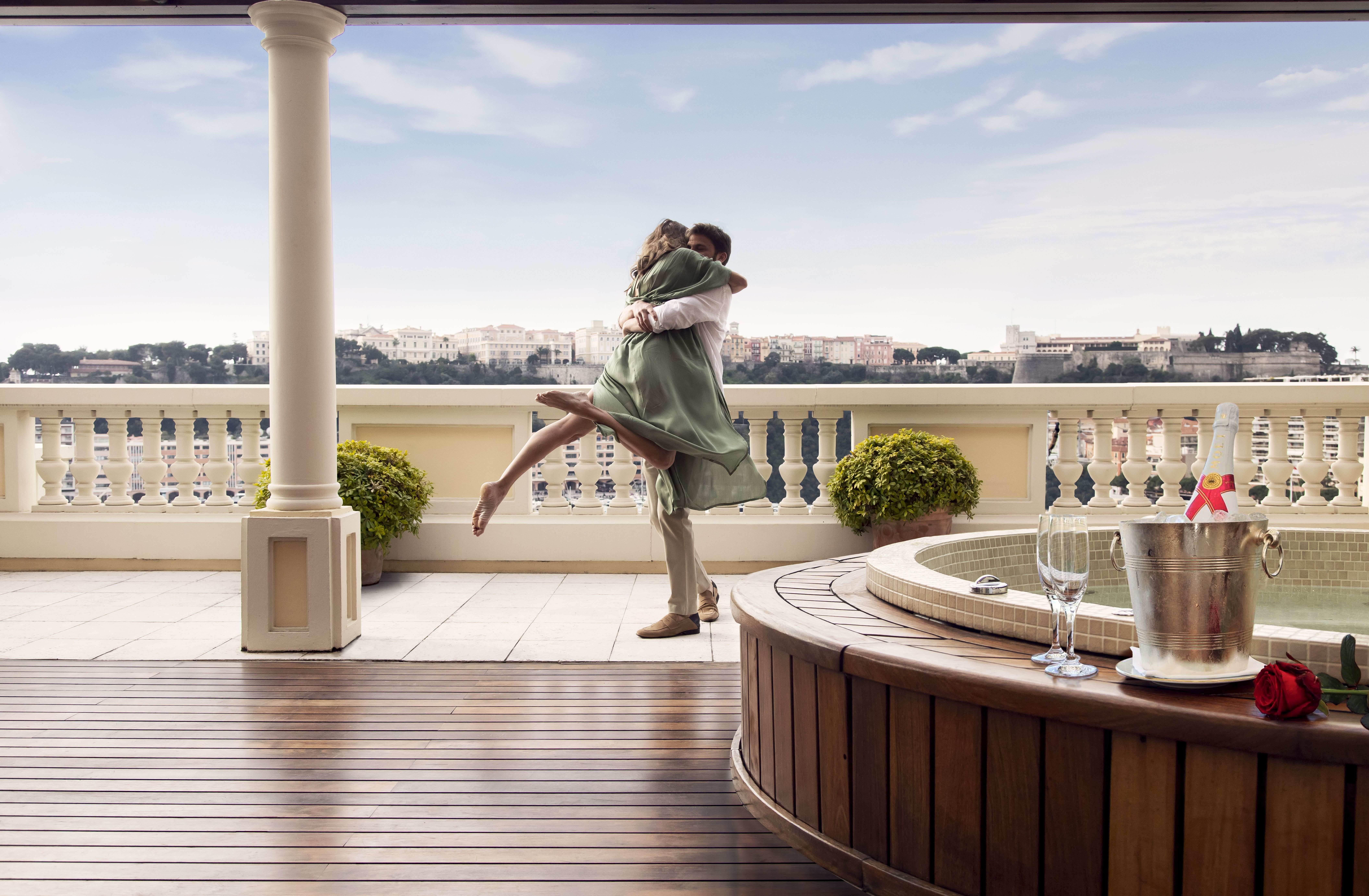 Diamond Suite vue Mer avec Jacuzzi Hôtel Hermitage Monte-Carlo Monaco- terrasse