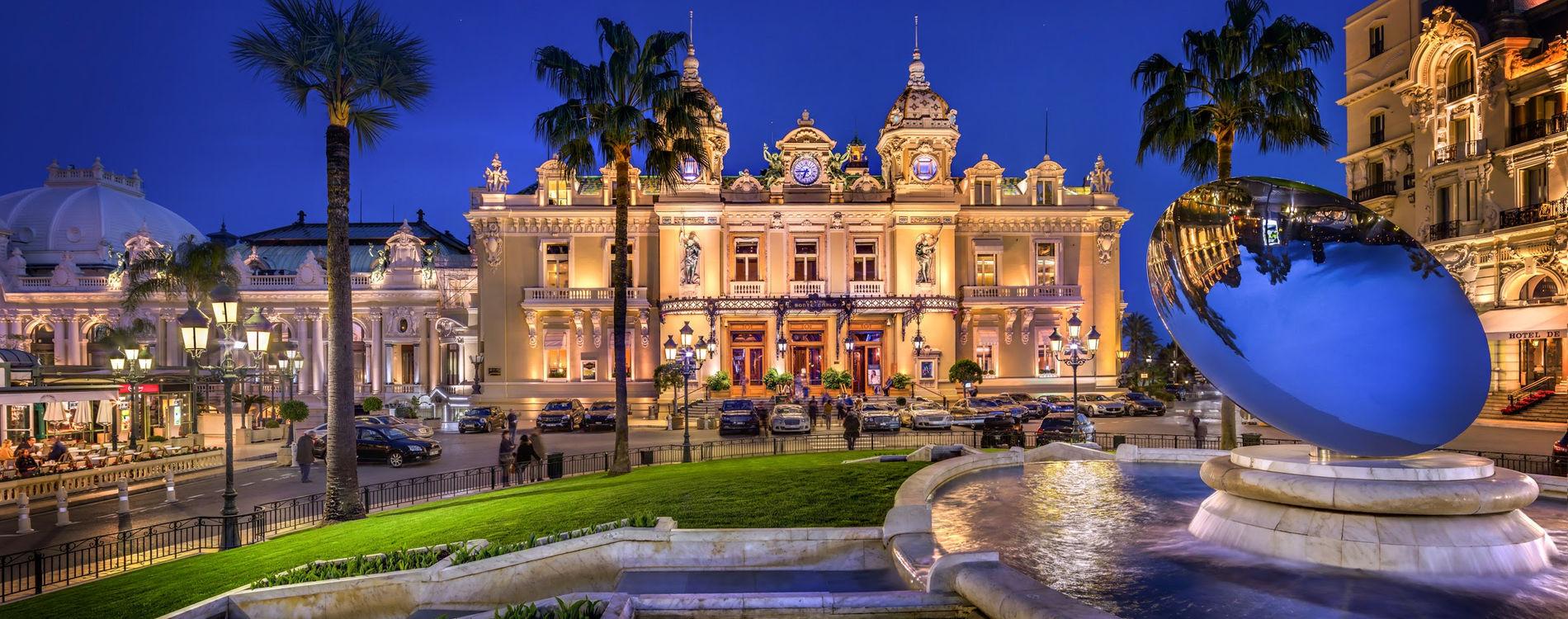 Casino de Monte-Carlo - Façade de nuit