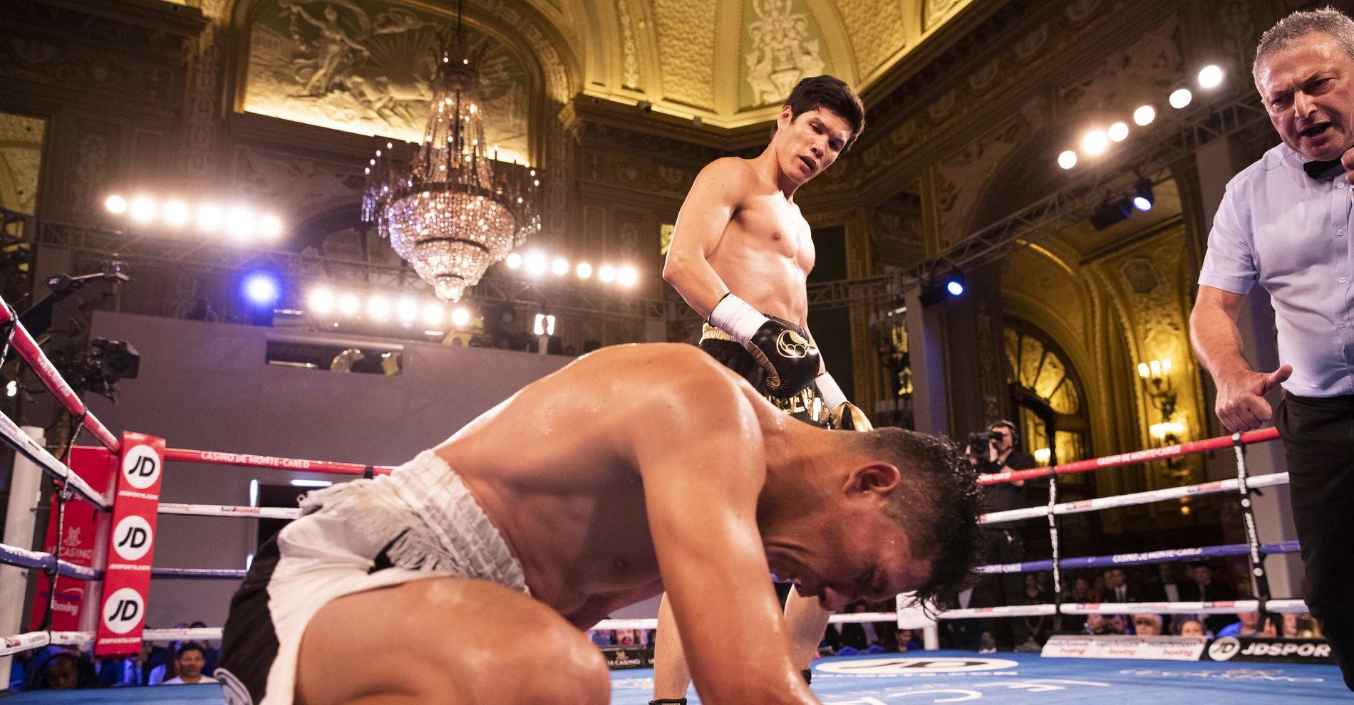 Monte-Carlo Boxing Bonanza Casino de Monte-Carlo Monaco Yeleussinov vs Mojica